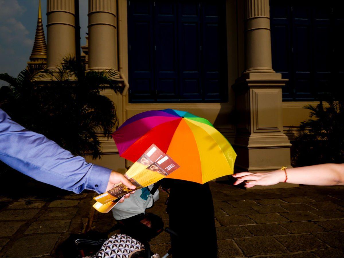 color umbrella