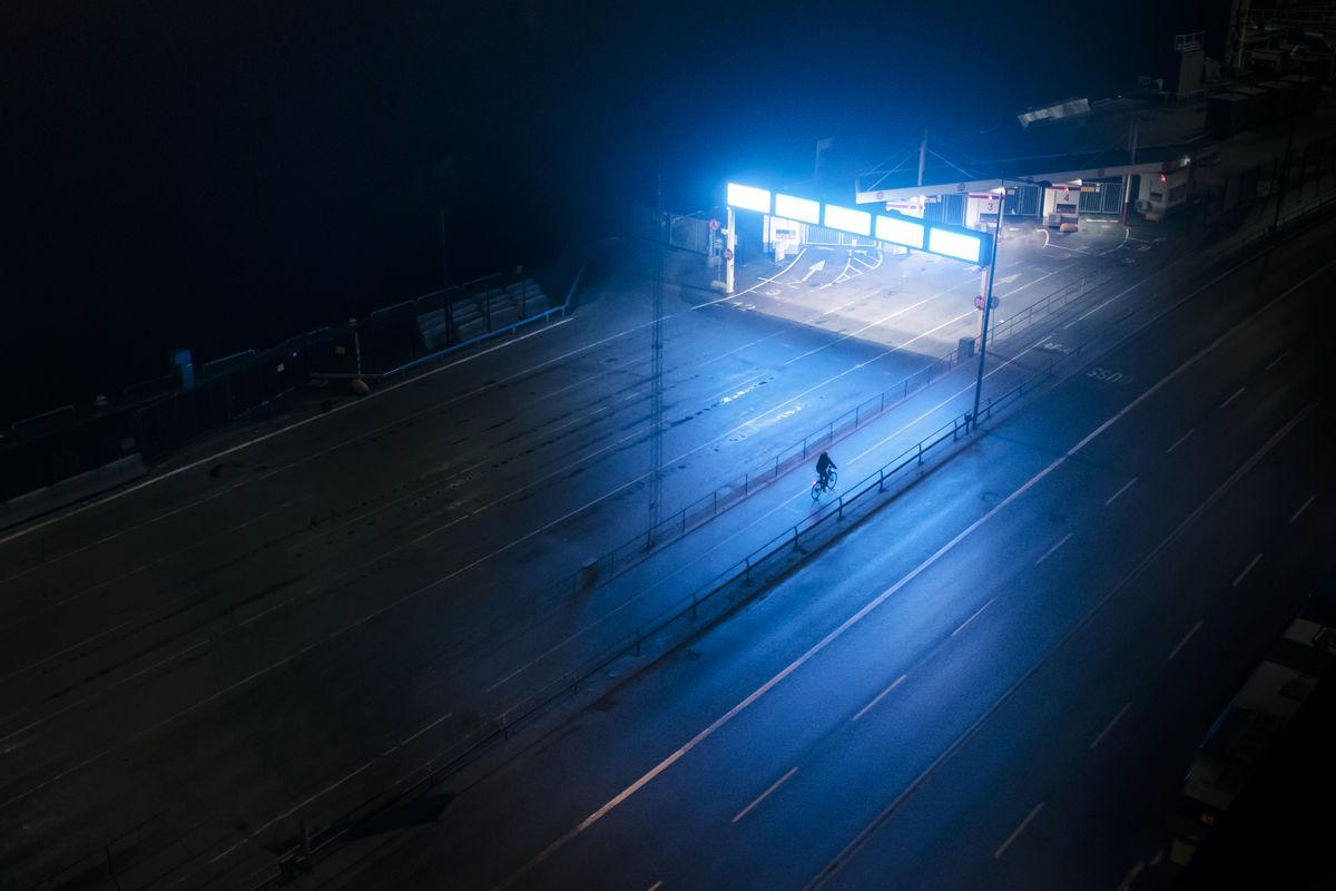 during night @auslund street