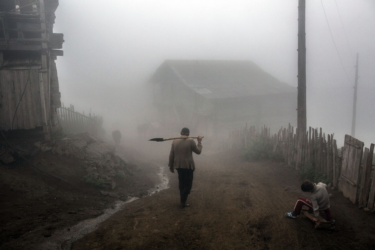 Man Returns Home In The Evening Eyeshot