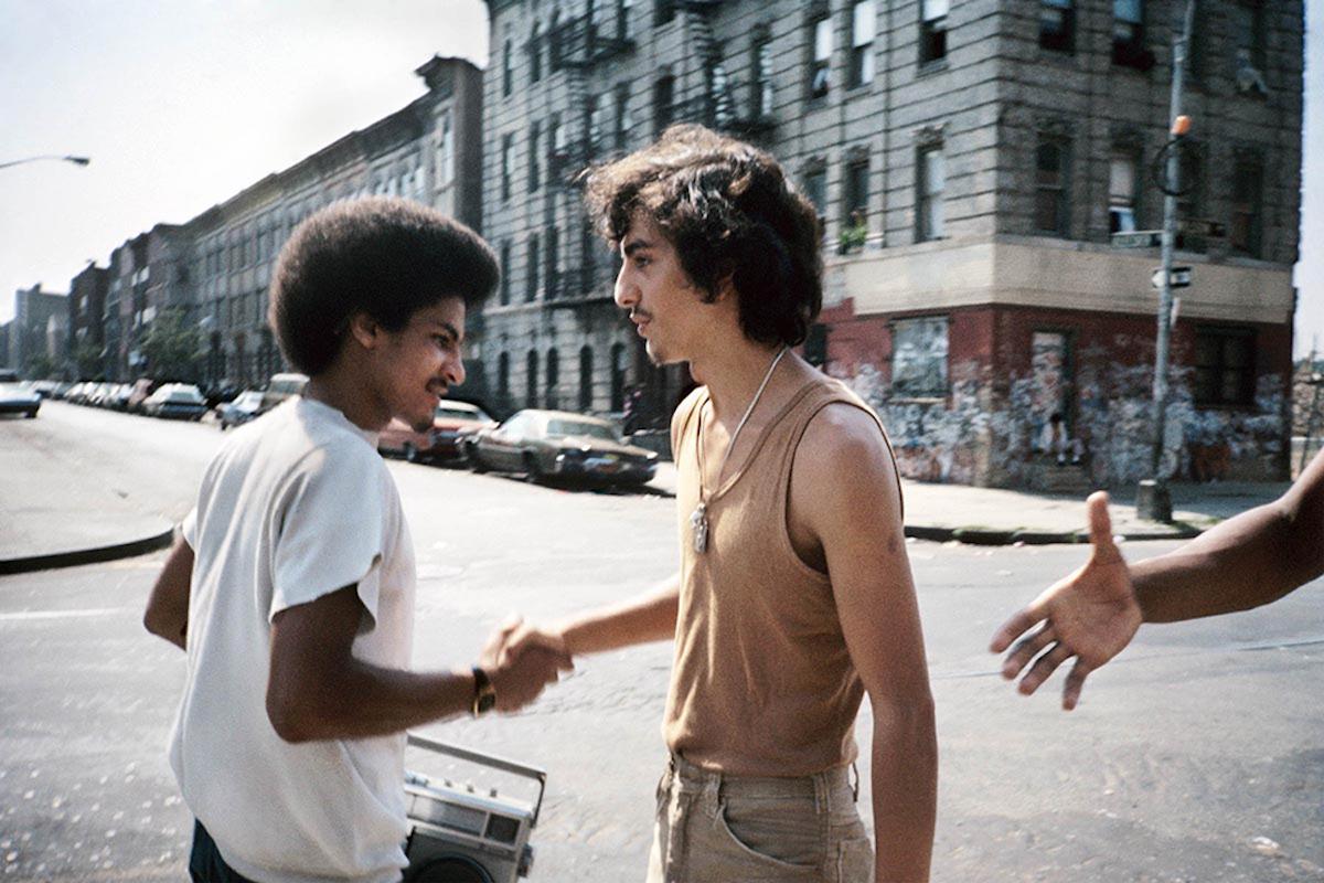 Meisler Handshake Bushwick Brooklyn NY September 1984 980